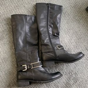 Faux leather west knee-high boots size 8